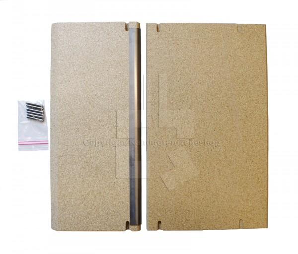 Satz Rauchumlenkplatten für Kaminofen Scan 60 und Scan 61