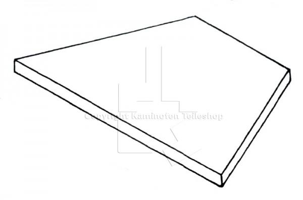 untere Rauchumlenkplatte für Scan 14H (Eck) Baujahr 1991 - 1993
