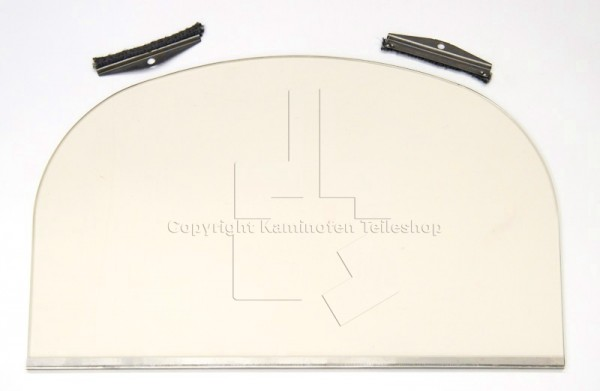 Türglas für Kaminofen Jotul F 400 Singeltür komplett
