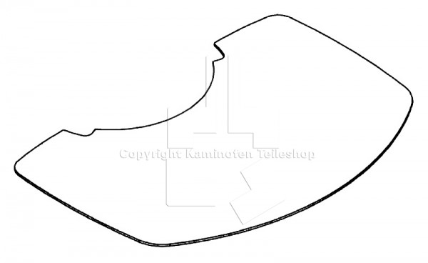 Scan 40 Glasvorlegeplatte / Funkenschutzplatte