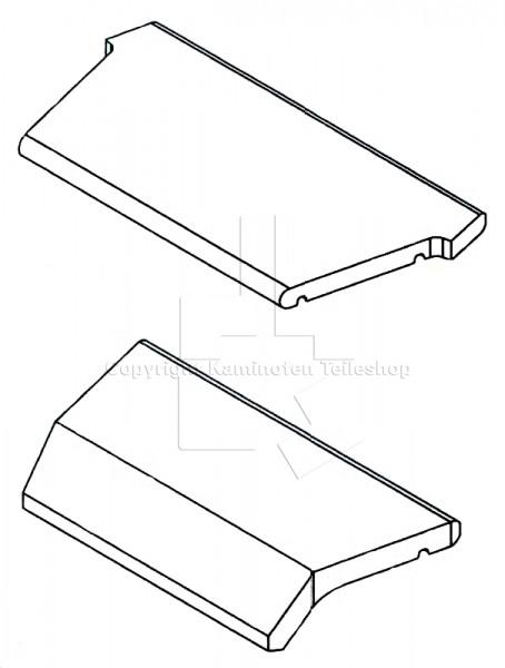 Scan 55 Rauchumlenkplatten / Heizgasumlenkungen