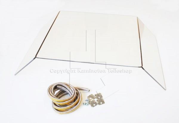 Original Türglassatz für die Kaminofen Nibe Handöl 10, 10T, Carl-Gustaf, Silvia und Sofiero Modelle