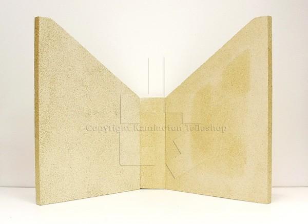 Satz Brennkammersteine aus Vermiculit für Kaminofen Scan 27