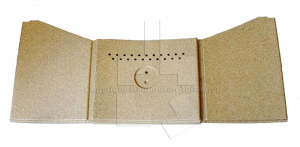 Satz Brennraumauskleidung aus Vermiculit für Kaminofen Jotul F 270 Serie