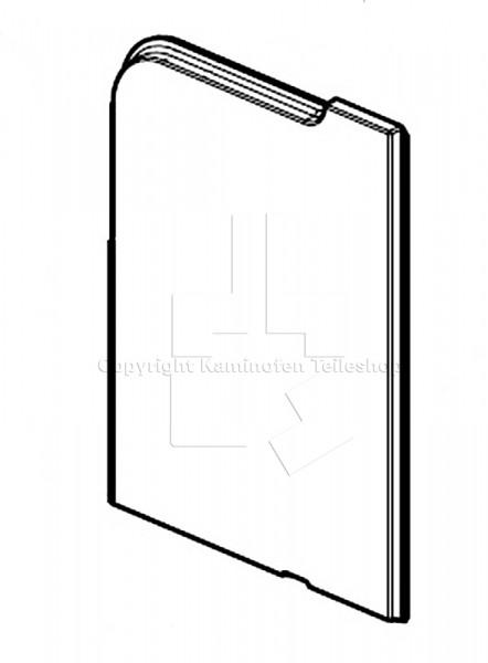 Jotul I 520 seitlich rechte Brennraumplatte