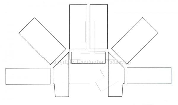 Scan 19 H (Ecke) Brennraumauskleidung bis Baujahr 09.1993