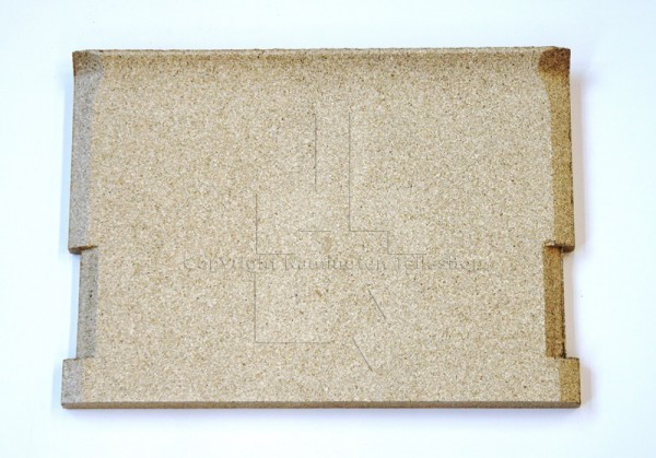 Brennraumrückwand aus Vermiculit für Nibe Handöl / Contura 20 Serie