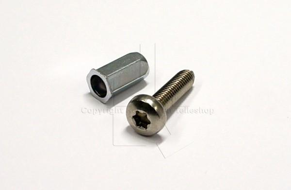 Contura 500 Gewindehülse und Schraube für Seitenscheibenhalter